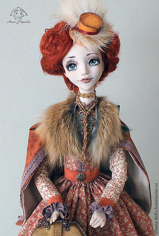 Коллекционные куклы ручной работы. Ярмарка Мастеров - ручная работа. Купить Лана. Путешественница. Handmade. Рыжий, ЛивингДолл