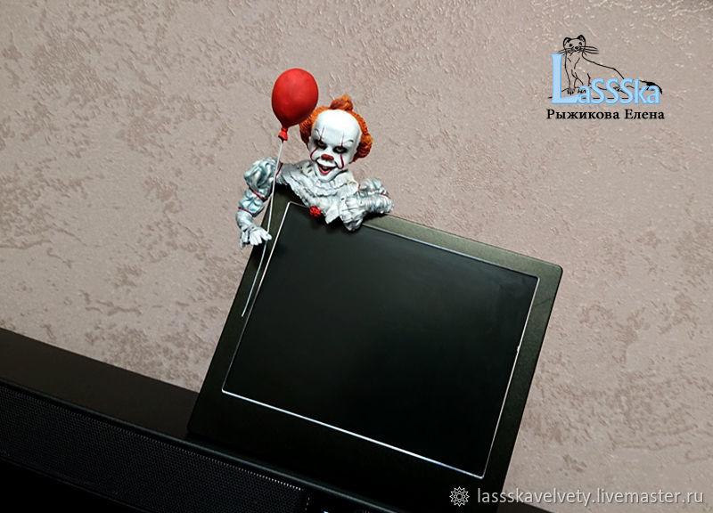 Клоун Пеннивайз, оно, на монитор, фоторамку, бархатный пластик, Изделия, Красноярск, Фото №1