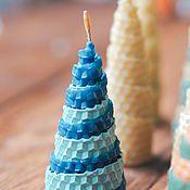 Свечи ручной работы. Ярмарка Мастеров - ручная работа Елочки из вощины в ассортименте. Handmade.