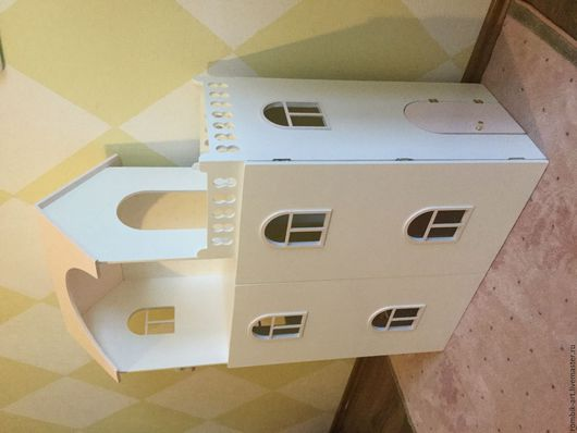Кукольный дом ручной работы. Ярмарка Мастеров - ручная работа. Купить Кукольный дом с дверками. Handmade. Бледно-розовый