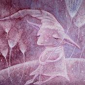Картины и панно ручной работы. Ярмарка Мастеров - ручная работа О чем мурлыкает весна...Картина-принт на холсте.. Handmade.