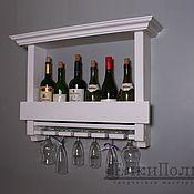 Для дома и интерьера ручной работы. Ярмарка Мастеров - ручная работа Полка для вина (белая). Handmade.
