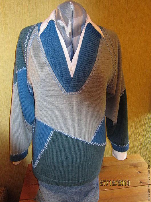 """Кофты и свитера ручной работы. Ярмарка Мастеров - ручная работа. Купить Джемпер """"Золушка"""". Handmade. Абстрактный, лоскутный"""