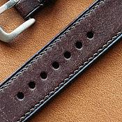 Украшения handmade. Livemaster - original item Fully stitched watchband / leather Pueblo 18mm/20mm/22mm/24mm. Handmade.