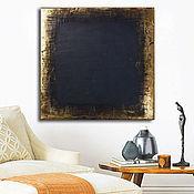 Картины и панно handmade. Livemaster - original item The Picture Black&Gold №3. Handmade.