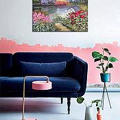 """Картины и панно ручной работы. Ярмарка Мастеров - ручная работа Картина маслом, пейзаж """"Краски лета"""" зеленый природа. Handmade."""