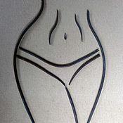 Картины ручной работы. Ярмарка Мастеров - ручная работа Картины: Силует девушки 1. Handmade.