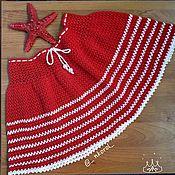 Юбки ручной работы. Ярмарка Мастеров - ручная работа Юбки: Полосатая юбочка. Handmade.