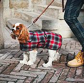 Для домашних животных, ручной работы. Ярмарка Мастеров - ручная работа Попона в клетку для собак. Handmade.