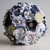 Свадебный салон handmade. Livemaster - original item Denim Wedding Bouquet. Handmade.