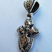 Украшения handmade. Livemaster - original item Silver cross with Topaz. Handmade.