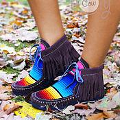 """Обувь ручной работы. Ярмарка Мастеров - ручная работа Замшевые ботиночки """"Fab Serape"""". Handmade."""
