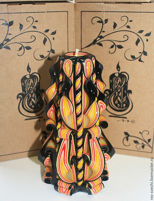 Резная Свеча Средняя. Высота 17 см, время горения более 25 ч. Все Свечи надежно упакованы! Купить резные свечи. Свечи резные ручной работы. Резные свечи. Свечи интерьерные свечи