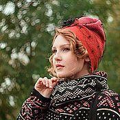 """Аксессуары handmade. Livemaster - original item Chapeau Chalma, ,"""" """" wool, knitted, felted. Handmade."""