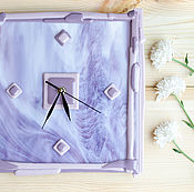 """Для дома и интерьера ручной работы. Ярмарка Мастеров - ручная работа Часы """"Сиреневая дымка"""". Handmade."""