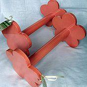 Подарки к праздникам ручной работы. Ярмарка Мастеров - ручная работа Девочковые гантели. Handmade.
