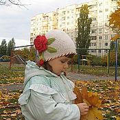 Работы для детей, ручной работы. Ярмарка Мастеров - ручная работа Шапочка с цветком. Handmade.