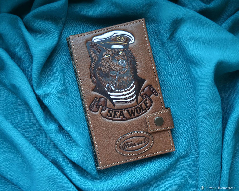 """Leather wallet """"SEA WOLF"""", Wallets, Krivoy Rog,  Фото №1"""