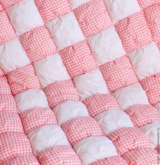 Пледы и одеяла ручной работы. Ярмарка Мастеров - ручная работа. Купить Зефирное одеяло. Handmade. Розовый, одеяло детское, детская