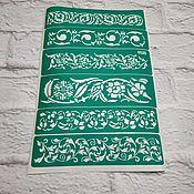 Материалы для творчества handmade. Livemaster - original item 6528 adhesive-based Stencil reusable. Handmade.