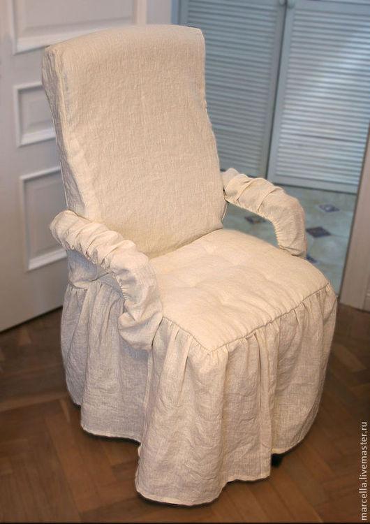 Кухня ручной работы. Ярмарка Мастеров - ручная работа. Купить Чехлы на кресла. Handmade. Чехол, дизайн, печворк, лён 100%