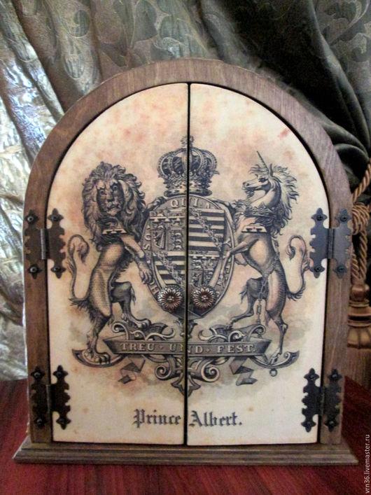 """Прихожая ручной работы. Ярмарка Мастеров - ручная работа. Купить """"Корона"""" ключница. Handmade. Комбинированный, подарок мужчине"""