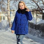"""Одежда ручной работы. Ярмарка Мастеров - ручная работа Теплая куртка """"Узоры"""". Handmade."""