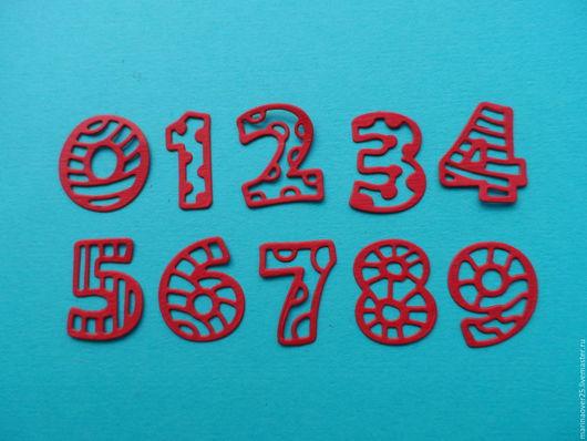 Открытки и скрапбукинг ручной работы. Ярмарка Мастеров - ручная работа. Купить Вырубка Веселые цифры от 0 до 9. Handmade. Цифры