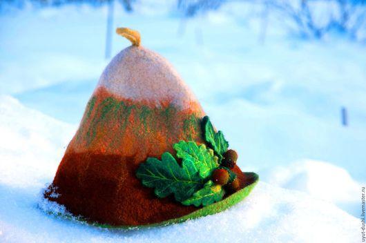 """Шапки ручной работы. Ярмарка Мастеров - ручная работа. Купить Войлочная шапка """"Сказочная дубрава"""". Handmade. Банная шапка, шапка"""