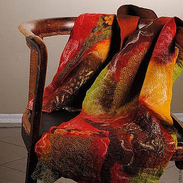 """Аксессуары ручной работы. Ярмарка Мастеров - ручная работа Шарф валяный """"Красный"""", нуно-войлок. Handmade."""