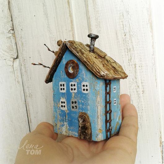 Статуэтки ручной работы. Ярмарка Мастеров - ручная работа. Купить Домик 'Под голубыми небесами' миниатюра, домик для интерьера. Handmade.