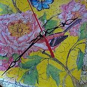 """Для дома и интерьера ручной работы. Ярмарка Мастеров - ручная работа Часы настенные """"Райская птица"""". Handmade."""