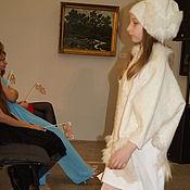 """Работы для детей, ручной работы. Ярмарка Мастеров - ручная работа Пончо """"Белая зима"""" детское. Handmade."""