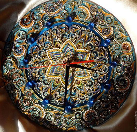 Часы для дома ручной работы. Ярмарка Мастеров - ручная работа. Купить часы настенные. Handmade. Разноцветный, интерьерное украшение