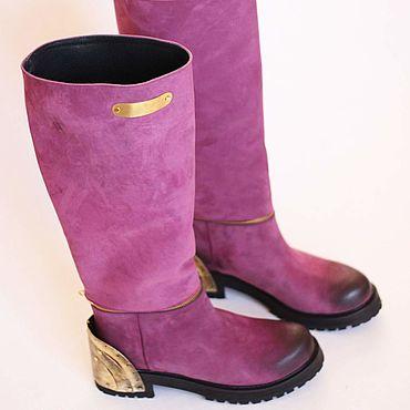 Обувь ручной работы. Ярмарка Мастеров - ручная работа Сапоги нубук. Handmade.