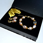 Украшения handmade. Livemaster - original item Pearl Baroque Bracelet. Natural pearls Baroque Lavender. Handmade.