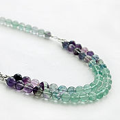 Украшения handmade. Livemaster - original item Necklace of fluorite
