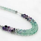 Украшения handmade. Livemaster - original item Necklace of fluorite