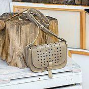 Сумка через плечо ручной работы. Ярмарка Мастеров - ручная работа Кожаная сумка KR/K crossbody. Handmade.