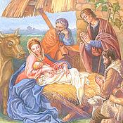 Картины и панно ручной работы. Ярмарка Мастеров - ручная работа Рождество Христово. Handmade.