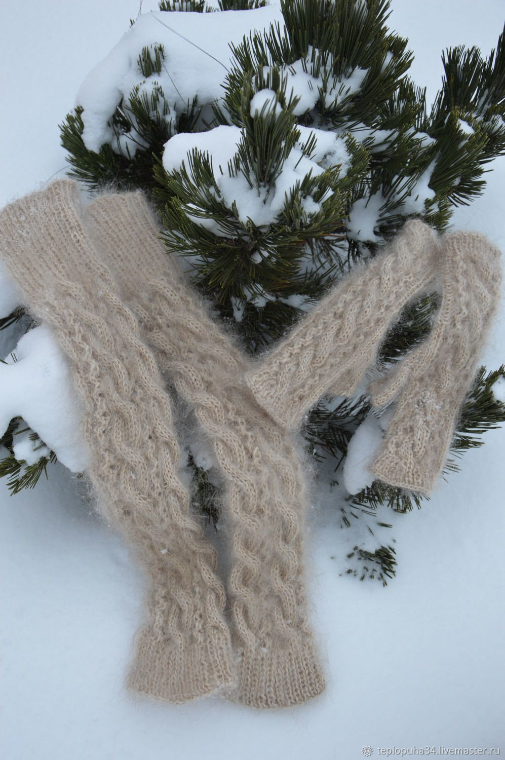 Down set of leg Warmers and mittens, Mitts, Urjupinsk,  Фото №1