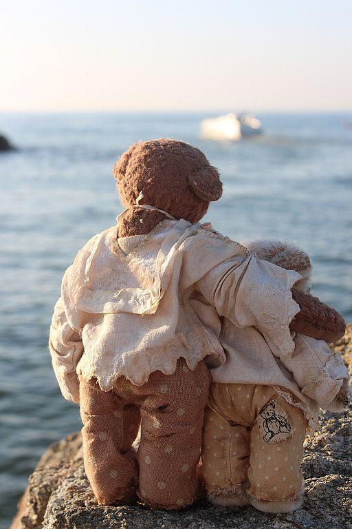 Мишки Тедди ручной работы. Ярмарка Мастеров - ручная работа. Купить Каждое утро они провожают в море корабли... Handmade.