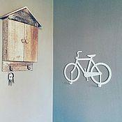 Для дома и интерьера ручной работы. Ярмарка Мастеров - ручная работа Велосипед-вешалка белого цвета. Handmade.