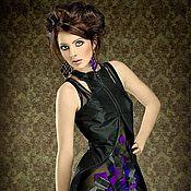Одежда ручной работы. Ярмарка Мастеров - ручная работа Двойное платье с необычным кроем. Handmade.