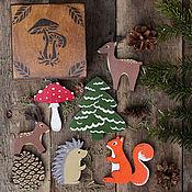 """Куклы и игрушки ручной работы. Ярмарка Мастеров - ручная работа Игровой набор""""Лесные друзья"""". Handmade."""