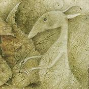 Картины и панно ручной работы. Ярмарка Мастеров - ручная работа Писать травинкой письма...Картина-принт на холсте.. Handmade.