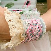 handmade. Livemaster - original item BOHO decoration. Bracelet cuff style boho chic, vintage, shabby chic. Handmade.