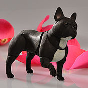 Куклы и игрушки ручной работы. Ярмарка Мастеров - ручная работа Бжд кукла собака Французский бульдог черный. Handmade.