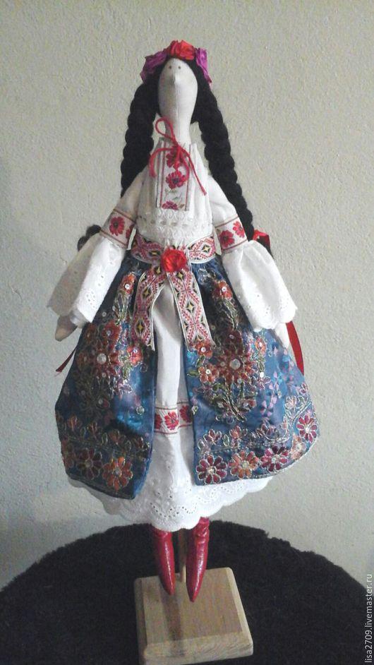 Куклы Тильды ручной работы. Ярмарка Мастеров - ручная работа. Купить Тильда украиночка. текстильная кукла. Handmade. Тёмно-синий