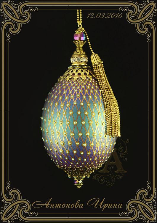 Яйцо-`Ажурная сетка`, для дома ручной работы.Антонова Ирина.Ярмарка Мастеров.